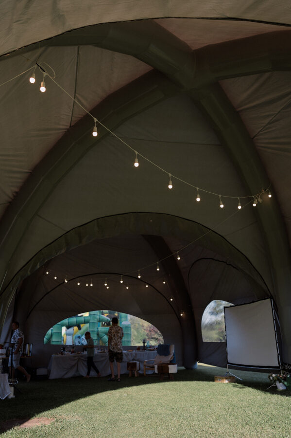 Piepūšamā telts