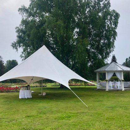Kāzu telts noma, zvaigzne, salaspils botāniskais dārzs